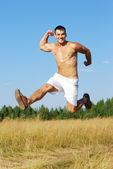 Enjoying running training — Stock Photo