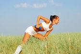 Woman Weight Training — Stock Photo