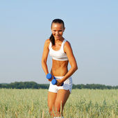 Fitness and workout woman — Stock Photo