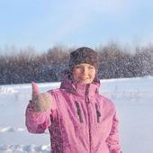 Zimą kobiet — Zdjęcie stockowe