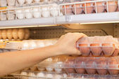 Buying eggs — Stock Photo