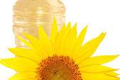 Sonnenblumen und öl — Stockfoto
