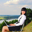 Stock Photo: Business womoutdoor