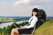 Business woman outdoor — Stock Photo