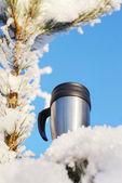 Tasse à café thermos — Photo