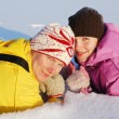 Family winter rest — Stock Photo