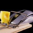Computer mouse and mousetrap — Stock Photo