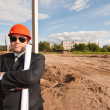 Director of  construction site — Stock Photo