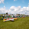 Stock Video: Russian championship in the sport aircraft modeling