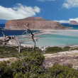 Stock Video: Time lapse clip clouds of Balos lagoon