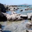 Stock Video: Panoramic shot of stone bay