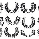 Wreath set (wreath collection, laurel wreath, oak wreath, wreath of wheat, and olive wreath) — Stock Vector #12122432