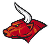 Bull head (red bull) — Wektor stockowy