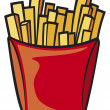 Stock Vector: French fries