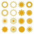 Suns - elements for design (set of vector suns, suns collection) — Wektor stockowy  #12636497