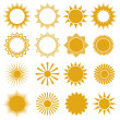 Suns - elements for design (set of vector suns, suns collection) — Stock Vector #12636497