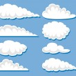 Royalty-Free Stock Vector Image: Set of white clouds