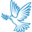 Dove of peace — Vector de stock