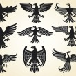 Stock Vector: Eagle icons