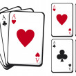 Playing cards — Vector de stock #12677322