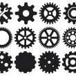 Gear icons set — Stock Vector #12677329