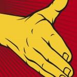 Open hand — Stock Vector
