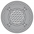 Stock Vector: Manhole cover