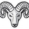 Stock Vector: Head of the ram