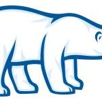Polar bear — Stock Vector