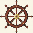 Stock Vector: Ship wheel