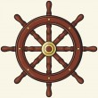 Vector de stock : Ship wheel