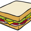 Sandwich — Stock vektor
