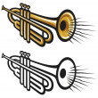 Royalty-Free Stock Vector Image: Trumpets
