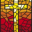 Stained glass cross  — Grafika wektorowa