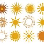 Set of sun vector — Stock Vector #12678975