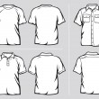 Set of shirt templates — Stockvektor