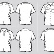 Royalty-Free Stock Vectorielle: Set of shirt templates