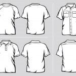 Set of shirt templates — Stock Vector