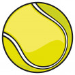 Yellow tennis ball — Stock Vector