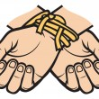 Stock Vector: Hands tied