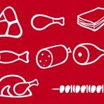Food symbols — Stock Vector