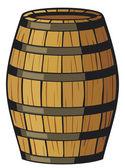 Wooden barrel — Stock Vector