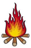Bonfire — Stock Vector