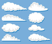 Set of white clouds — Stock Vector
