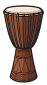 African Drum — Stockvector