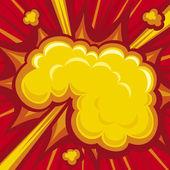 Nube amarilla — Vector de stock