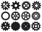 Gear icons set — Stock Vector