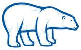 Polar bear — Vector de stock