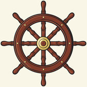Koło statku — Wektor stockowy