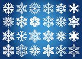 Snöflingor bakgrund — Stockvektor